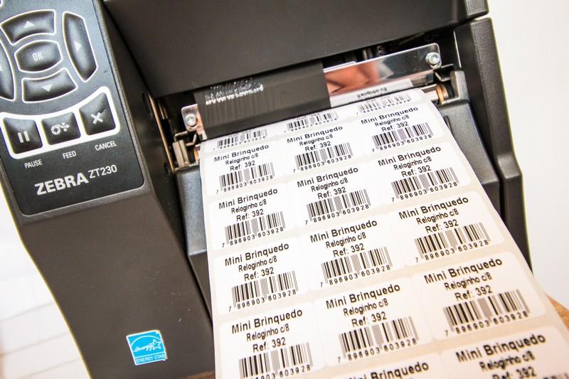 Etiqueta para automação comercial